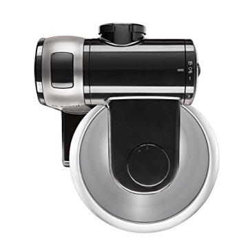 Bosch MUM48A1 Küchenmaschine (600 Watt, 3,9 Liter, Edelstahl-Rührschüssel, Durchlaufschnitzler, Rezept DVD) schwarz - 3