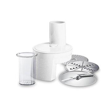 Bosch MUM48A1 Küchenmaschine (600 Watt, 3,9 Liter, Edelstahl-Rührschüssel, Durchlaufschnitzler, Rezept DVD) schwarz - 6