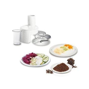 Bosch MUM48R1 Küchenmaschine MUM4 (600 Watt, 3.9 Liter, Edelstahl-Rührschüssel, Durchlaufschnitzler, Rezept DVD) rot - 4