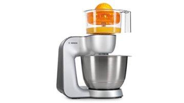 Bosch Styline MUM56340 Küchenmaschine (900 W, edelstahl-Rührschüssel, Durchlaufschnitzler, Rühr-Schlagbesen und weiteres Zubehör) silber - 3