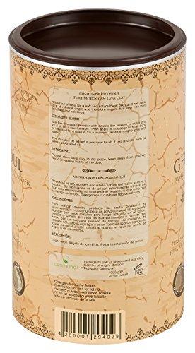 cosmundi Ghassoul Marokkanische Lavaerde 1 kg Mineralische Tonerde zur Haar-/Körperpflege und Gesichtsmaske/Peeling - 5