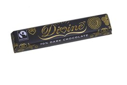 Divine Chocolate - 70% Dark Chocolate - 40g - 1