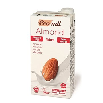 Ecomil Mandelmilch Natur, ungesüßt, bio 1 Liter - 1