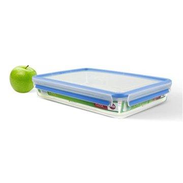 Emsa 508545 Rechteckige Frischhaltedose mit Deckel, 2.6 Liter, Transparent/Blau, Clip & Close - 3