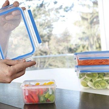 Emsa 508545 Rechteckige Frischhaltedose mit Deckel, 2.6 Liter, Transparent/Blau, Clip & Close - 7