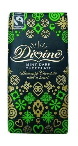 Fairtrade Divine Dark Chocolate with Mint Crisp 100gr. -