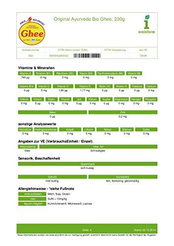 Finck Naturkost Bio Ayurveda Bio Ghee (1 x 230 gr) - 5