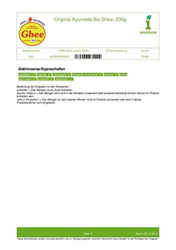 Finck Naturkost Bio Ayurveda Bio Ghee (1 x 230 gr) - 6