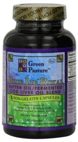 Green Pasture Blue Ice Royal Butter Öl/ Fermentierter Lebertran - 120 Kapseln - 1