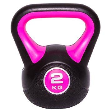 Kettlebell Kugelhantel Vinyl Handgewicht Gymnastik, Kettle Bell, Kettlebells, Schwunghantel 2kg 3kg 4kg 5kg 6kg 8kg 10kg 12kg 14kg 16kg 18kg 20kg (2 KG) - 2