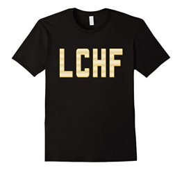 LCHF - Low Carb High Fat Tshirt fun gift idea Herren, Größe XL Schwarz - 1