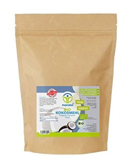 Manako Bio - Kokosmehl gemahlen  Beutel, 2er Pack (2 x 1 kg) - 1