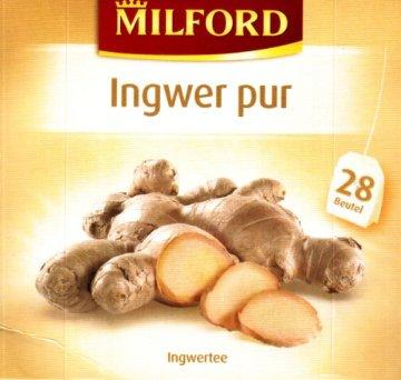 Milford Ingwer pur (nicht aromatisiert) 28 TB, 2er Pack (2 x 56 g Packung) - 1