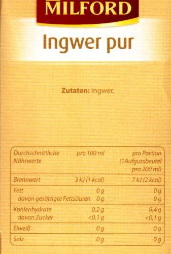 Milford Ingwer pur (nicht aromatisiert) 28 TB, 2er Pack (2 x 56 g Packung) - 3