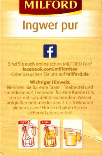 Milford Ingwer pur (nicht aromatisiert) 28 TB, 2er Pack (2 x 56 g Packung) - 4