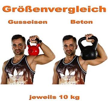 MOVIT® Profi Kettlebell Kugelhantel aus Gusseisen mit Vinylbeschichtung, 12 VARIANTEN: 2 bis 24 kg - 8