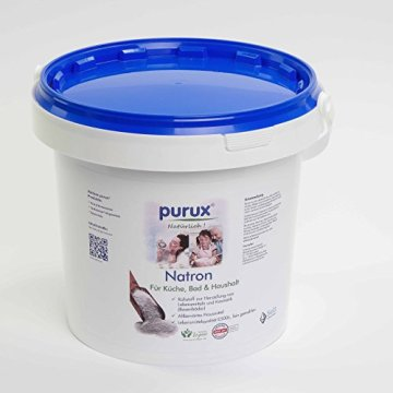 Natron 5 kg Natriumhydrogencarbonat NaHCO3 Natriumbicarbonat E500 ii Backsoda - 1