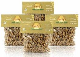 Nudelly's Quattro Forza glutenfreie Pasta im 4er-Pack, Sesammehl, Eier-Nudeln mit Tapioka-Stärke als Fusilli, low-carb, paleo, clean, sojafrei - 1