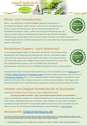 Original-Kombucha-Teepilz Premium Qualität + Bio-Kombucha-Getränk für 1 L, Anleitung + Anwuchsgarantie. Aus dem Heilbad Bad Kohlgrub - 6