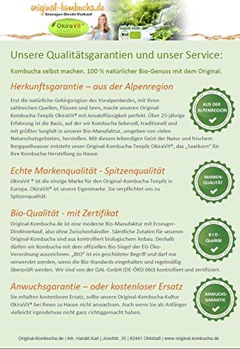 Original-Kombucha-Teepilz Premium Qualität + Bio-Kombucha-Getränk für 3 L, Anleitung + Anwuchsgarantie. Aus dem Heilbad Bad Kohlgrub. - 5