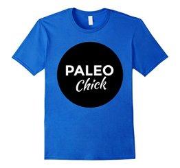 Paleo Chick T-shirt - Paleo Shirt Herren, Größe M Königsblau - 1