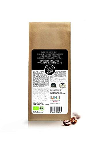 Premium Bio Kaffee preisgekrönt von 360° rundum ehrlich | Köstlich, sehr säurearm und bekömmlich | Honduras Hochland Arabica fair gehandelt | Öko-Verpackung 500g - 3