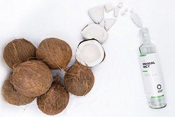 PRIMAL MCT Öl in Glasflasche | Extrakt aus Kokosöl | Geschmacksneutral | Caprylsäure (C-8) und Caprinsäure (C-10) | Bulletproof Coffee | MCT Oil - 500ml - 4