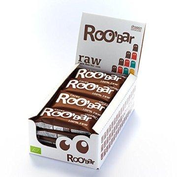 ROO'BAR Kakao & Cashew (ohne Nibs) - 16 Stück (16x 50g) - Rohkost-Riegel mit Superfoods (bio, vegan, glutenfrei, roh) - 1