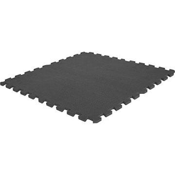 Schutzmatten-Set – GORILLA SPORTS 8 Puzzle-/Sport-Matten 60 x 60 cm, Bodenschutz in Schwarz - 6