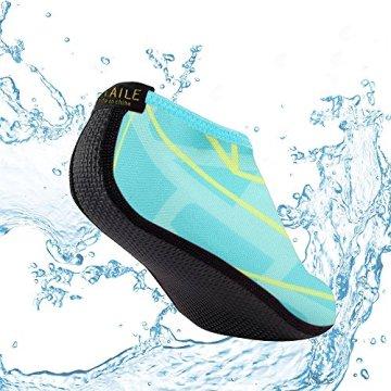 SITAILE Sommer Aqua Schuhe Barfuß Weich Wassersport Yoga Schuhe Strandschuhe Schwimmschuhe Surfschuhe für Damen Herren,Grün,XL,EU40-42 - 2