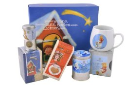 Sonnentor Leise rieselt der Tee-Weihnachtlicher Geschenkkarton, 1er Pack (1 x 232 g) - Bio - 1