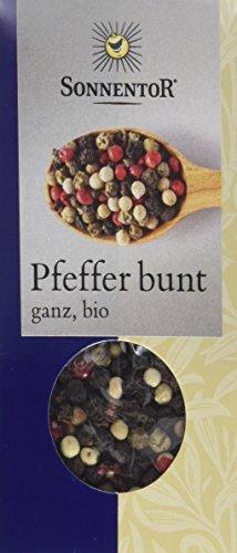 Sonnentor Pfeffer bunt ganz, 1er Pack (1 x 35 g) - Bio - 1