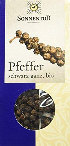 Sonnentor Pfeffer schwarz ganz, 1er Pack (1 x 35 g) - Bio - 1