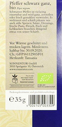 Sonnentor Pfeffer schwarz ganz, 1er Pack (1 x 35 g) - Bio - 2