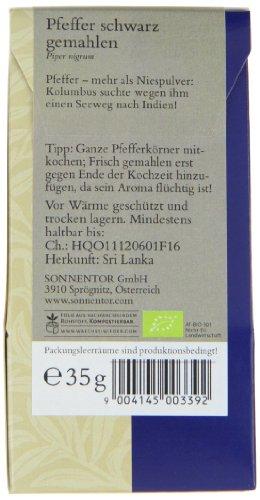 Sonnentor Pfeffer schwarz gemahlen, 1er Pack (1 x 35 g) - Bio - 3
