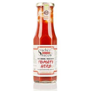 Stebi`s Paleo Sauce No.2 – Kinder Ketchup Tomato Hero (ohne Zuckerzusatz, 100 % Natürlich) -