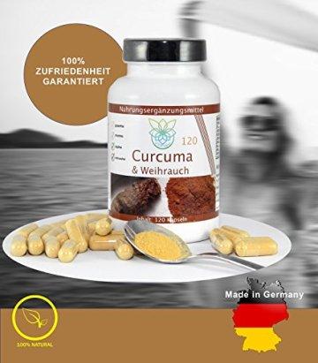 VITARAGNA Curcuma und Weihrauch 120 Kapseln Qualitätsprodukt mit Kurkuma-Extrakt und Weihrauch-Extrakt, Kurkuma Kapseln - 4