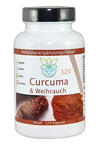 VITARAGNA Curcuma und Weihrauch 120 Kapseln Qualitätsprodukt mit Kurkuma-Extrakt und Weihrauch-Extrakt, Kurkuma Kapseln - 1