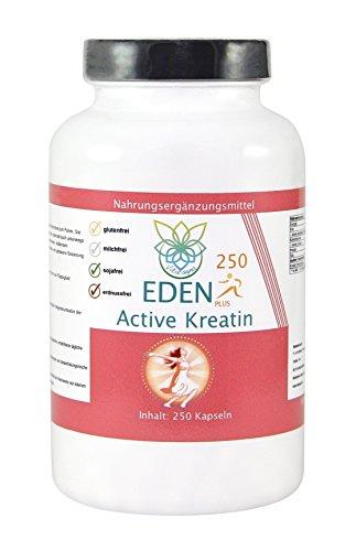 VITARAGNA Eden Active Kreatin Plus 250 Kapseln, reines, hochwertiges Creatin Monohydrat bzw. Creatine Monohydrate, Kraftsteigerung & Muskelaufbau, clean - 1