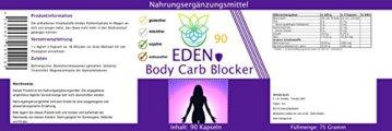 VITARAGNA Eden Body Carb-Blocker 90 Kapseln, der Kohlenhydratblocker mit Bockshornkleesamen und Bohnenpulver als Extrakt - 2