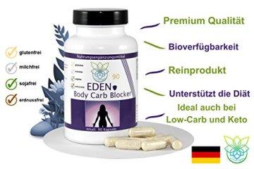 VITARAGNA Eden Body Carb-Blocker 90 Kapseln, der Kohlenhydratblocker mit Bockshornkleesamen und Bohnenpulver als Extrakt - 3