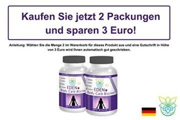 VITARAGNA Eden Body Carb-Blocker 90 Kapseln, der Kohlenhydratblocker mit Bockshornkleesamen und Bohnenpulver als Extrakt - 5