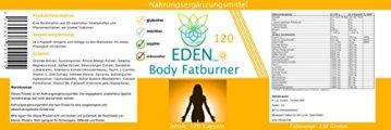 VITARAGNA Eden Body Fatburner Day 120 Kapseln, Fettverbrenner Diät Pillen bzw Abnehm-Pillen, Unterstützung zum natürlich abnehmen, auch bei Bauchfett - 2