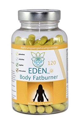 VITARAGNA Eden Body Fatburner Day 120 Kapseln, Fettverbrenner Diät Pillen bzw Abnehm-Pillen, Unterstützung zum natürlich abnehmen, auch bei Bauchfett - 1