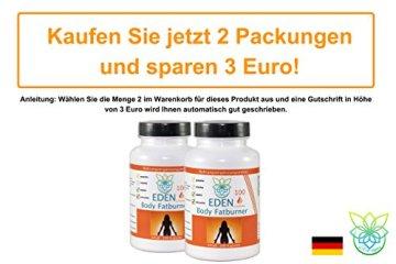 VITARAGNA Eden Body Fatburner L-Carnitin 100 Kapseln, Fettverbrenner, Diät-Pillen bzw Abnehm-Pillen zum Sport ohne Koffein, mehr Kraft und Ausdauer, hochdosiert - 5