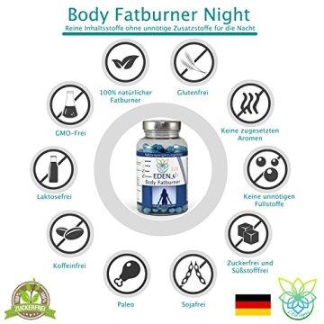 VITARAGNA Eden Body Fatburner Night 120 Kapseln ohne Koffein, Fettverbrenner Diät-Pillen bzw. Abnehm-Pillen, im Schlaf natürlich abnehmen auch bei Bauchfett - 5