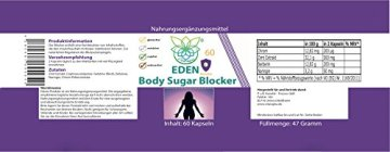 VITARAGNA Eden Body Sugar Blocker Komplex 60 Kapseln, der Carb-Blocker, Kohlenhydratblocker, Zuckerblocker, Blutzucker-Blocker, Abnehmen in der Diät, keto, glutenfrei - 2