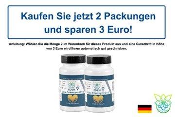 VITARAGNA Eden Care Coenzym-Q10 Plus 60 Kapseln, hohe Wirkkraft durch 100 mg Co-Q10, Vitamin-C und Vitamin-E, Q10 hochdosiertes Antioxidans für Anti-Age, glutenfrei - 5