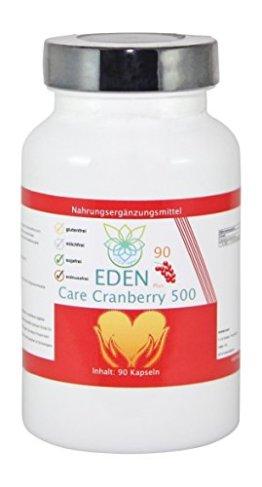 VITARAGNA Eden Care Cranberry 500 90 Kapseln, 500 mg Cranberry Konzentrat hochdosiert, Blase & Nieren stärken, Immunsystem stärken - 1