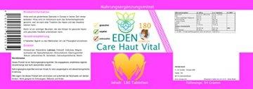 VITARAGNA Eden Care Haut Vital Komplex 180 Tabletten mit Hirse und Biotin für eine gesunde Hautpflege, Haut-Vitalstoffe und Haut-Vitamine als Haut-Kur, hochdosiert - 2